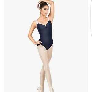 Natalie Dancewear Other - Adult Two-tone Crisscross Back Tank Leotard